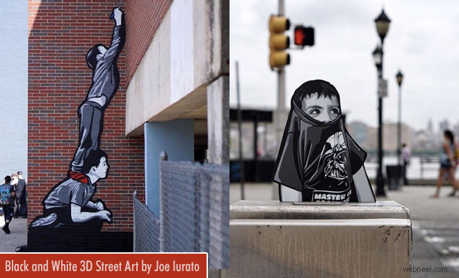 Beautiful Miniature 3D Street Art works and Wood Cut outs by Joe Iurato