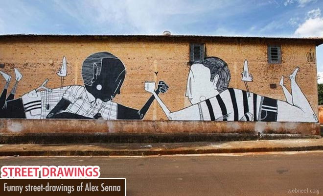 Funny but Poetic Street Art works of Alex Senna