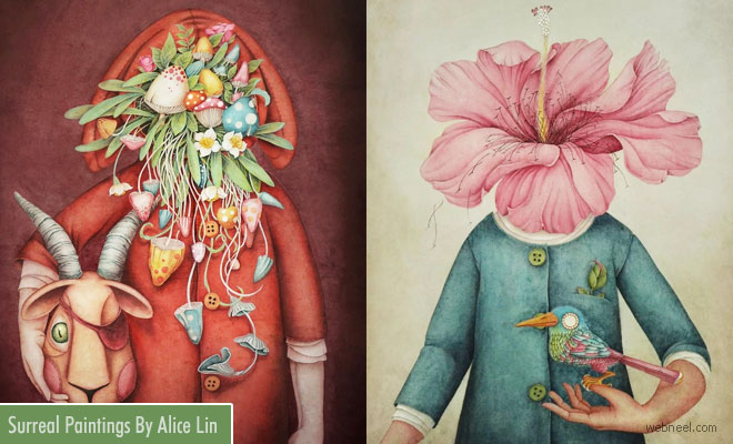 15 Surreal and Vibrant Watercolor Paintings by Alice Lin
