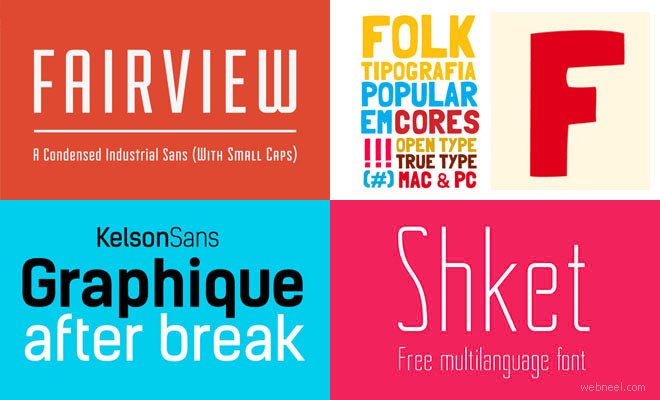 27 Professional Free Fonts for Graphic and Web Designers - Download Now