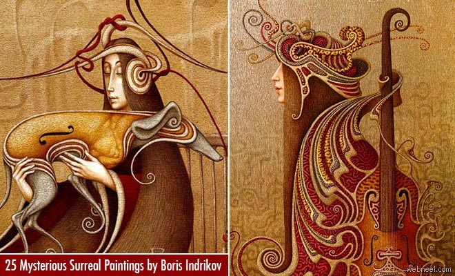 25 Mysterious Surreal Russian Paintings by Boris Indrikov