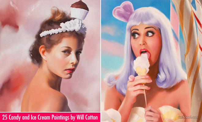 25 Stunning Candy and Ice Cream themed Oil Paintings by Will Cotton
