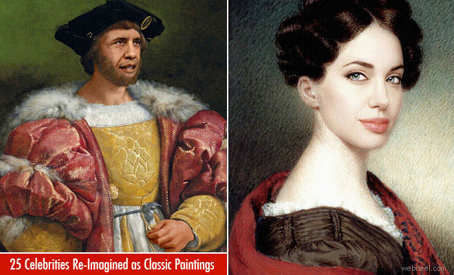 25 Celebrities Humorously Re-Imagined as Classic Paintings
