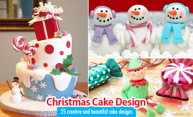 25 Beautiful Christmas Cake Decoration Ideas and design examples