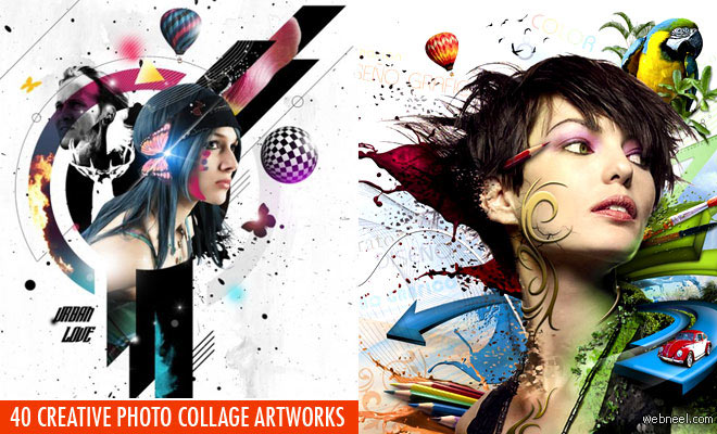 40 Creative Photo Collage Effects and Photoshop collage art works