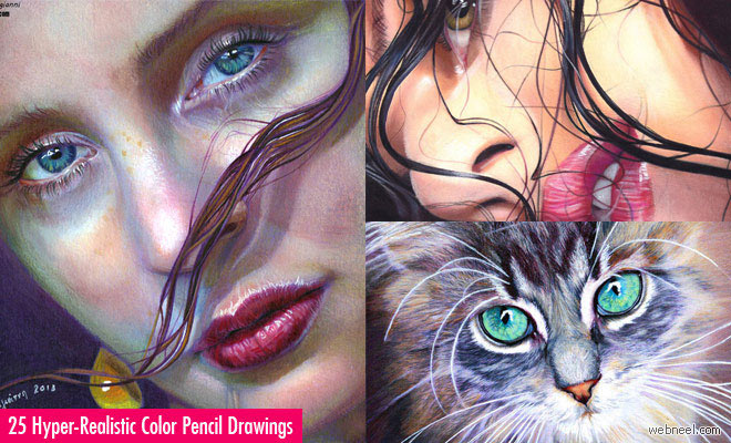 25 Hyper-Realistic Color Pencil Drawings by Christina Papagianni