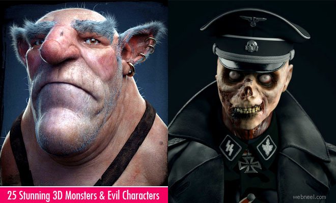 25 Stunning 3D Monsters and Evil Characters for your inspiration