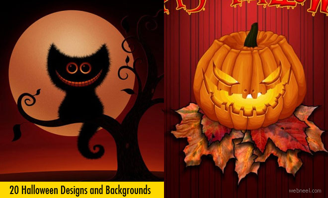 20 Beautiful Halloween Backgrounds and Designs for your inspiration