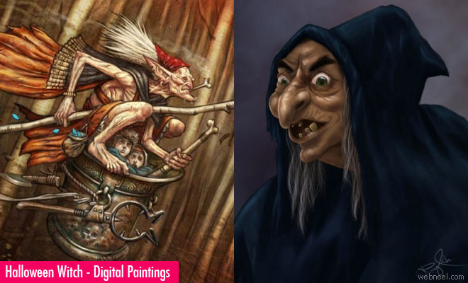 Beautiful Halloween Witch Paintings for your inspiration1