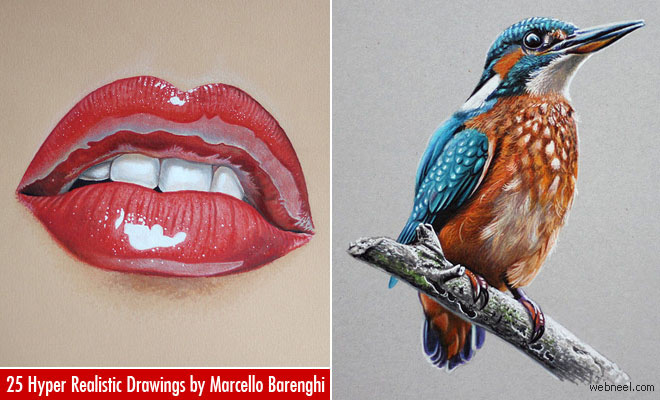 25 Stunning Hyper Realistic Drawings and Video Tutorials by Marcello Barenghi