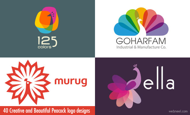 40 Creative and Beautiful Peacock logo designs for your inspiration