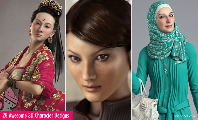 28 Awesome 3D Character Designs from Top 3D Masters Zhang Chen and Eugene Fokin