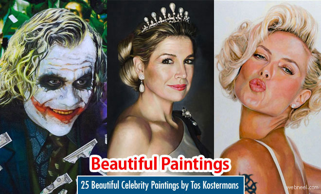 25 Hilarious and Beautiful Celebrity Paintings by Tos Kostermans
