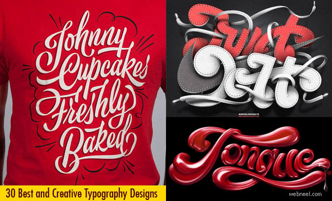 30 Best and Creative Typography Design examples for your inspiration