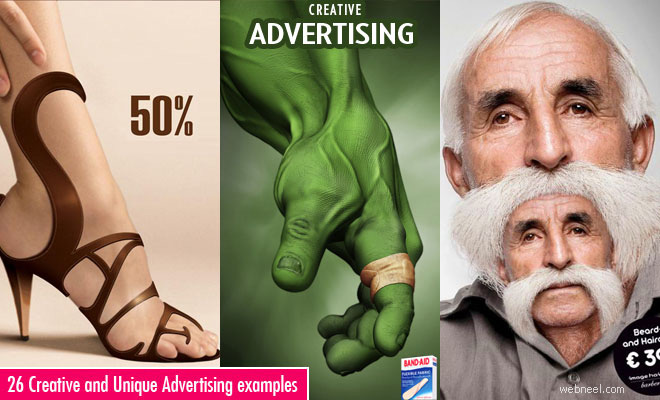 50 Creative and Unique Advertising Ideas and Design Inspiration for you