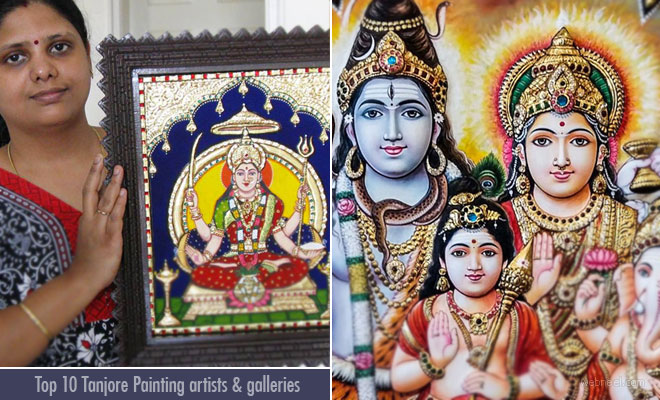 Top 20 Tanjore painting artists and Art gallery lists in india