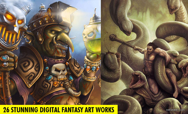 26 Stunning Digital Fantasy Art works for your inspiration