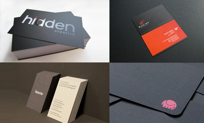 25 Creative Dark Business Card Design examples
