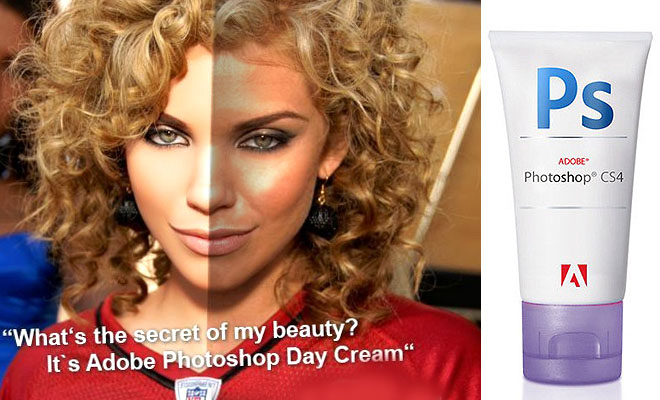 What's the secret of my beauty? Adobe Photoshop Day Cream - 25 After Before Photos