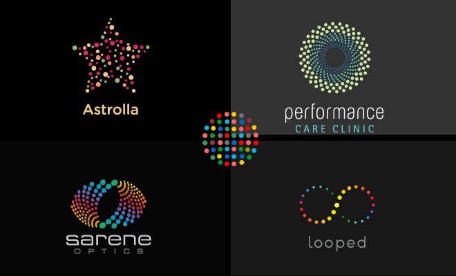 Dotted-Style Logo Designs - Collection of creative works