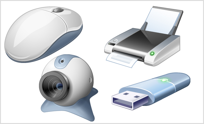 Computer hardware PNG Icons- download zip file