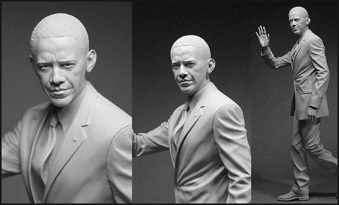 Realistic Sculptures by Adam Beane - Barack Obama