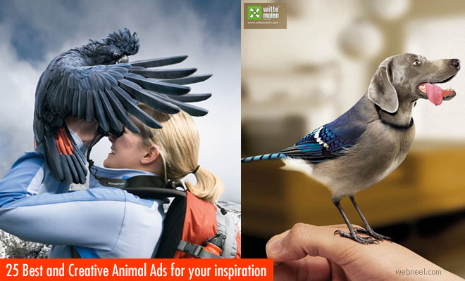 90 Creative Animal themed Print Ads and Advertising ideas for you
