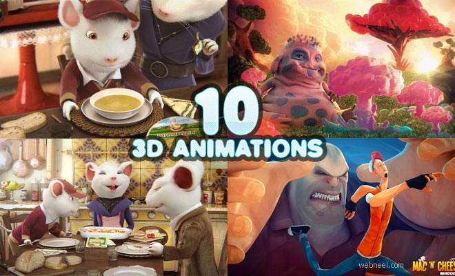 10 Best 3D Animation Short Films, TVC and Character design Screens