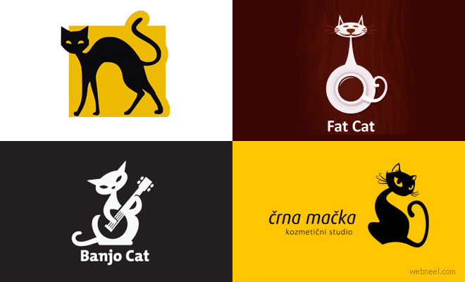 30 Creative Cat Logo Design examples for your inspiration