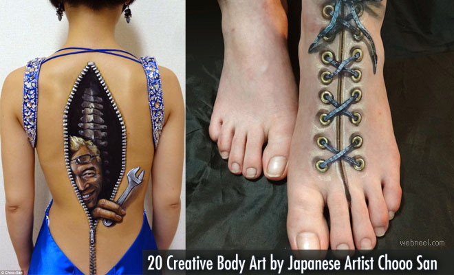 20 Creative Body Art by Japanese Artist Chooo San - Illusion and Incredible