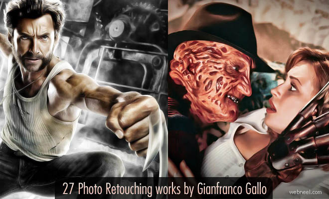 30 Photoshop Retouching Master Pieces by Gianfranco Gallo - After Before Photos