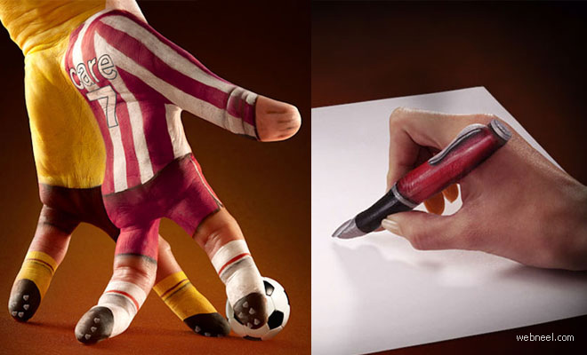 10 Amazing Hand Painting Illusions by Ray Massey and Annie Ralli