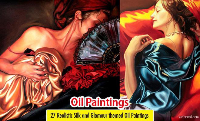 27 Realistic Silk themed Oil Paintings by Kathrin Longhurst