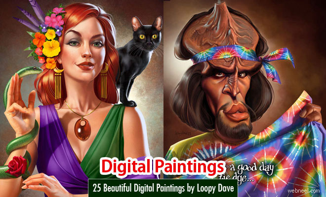 25 Beautiful Digital Paintings and illustrations by Loopy Dave