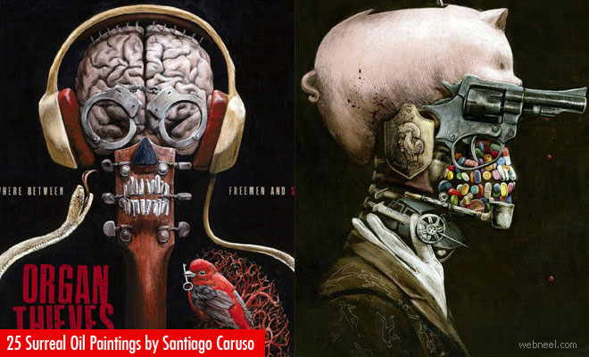 25 Stunning Surreal Oil Paintings and Creative Art works by Santiago Caruso