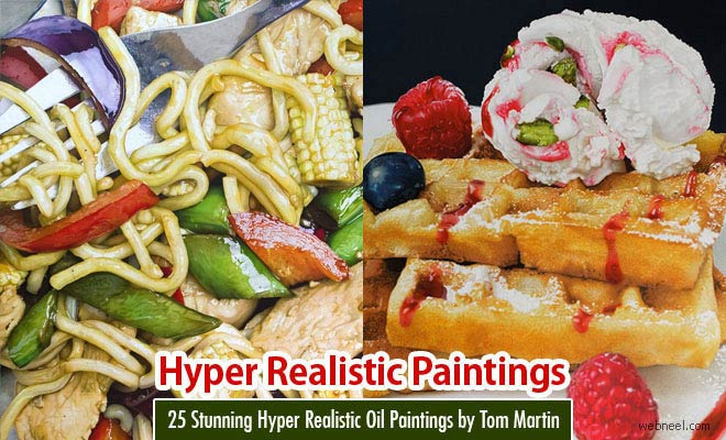 25 Stunning Hyper Realistic Oil Paintings by Tom Martin