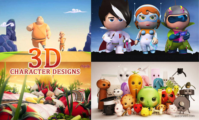 5 Award Winning 3D Animated TV Commercials and Character designs