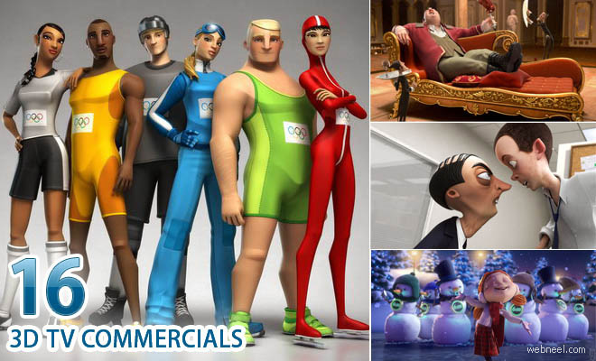 16 Best and Beautiful 3D Animated TV Commercial Videos for you