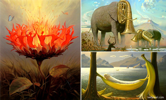 35 Mind-blowing Surreal Oil Paintings by Vladimir Kush