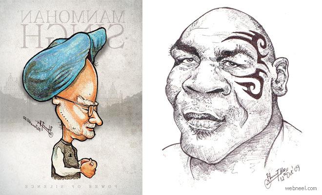 20 Beautiful Caricatures by Tamilnadu Artist Bharat KV