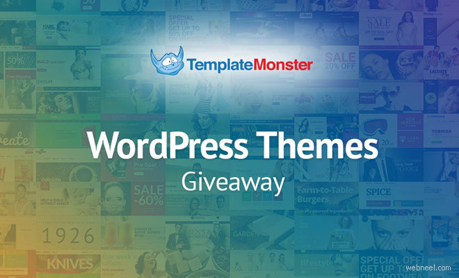 TemplateMonster Giveaway : Win 1 of 5 WordPress Themes at Your Choice