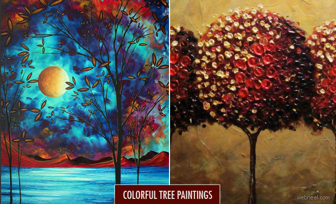 30 Colorful Tree Paintings and Concept artworks for your inspiration