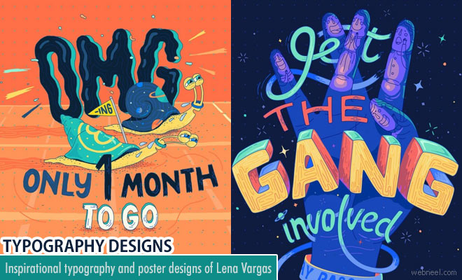 Creative Typography and Poster designs of Lena Vargas for ING Creatives Festival