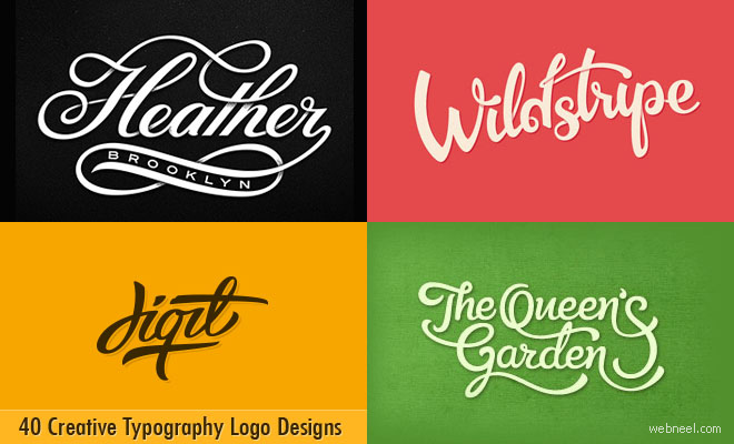 40 Creative Typography Logo design inspiration for you