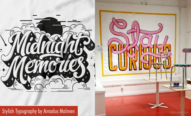 Stylish Typography Designs and Art illustrations by Amadus Malmen