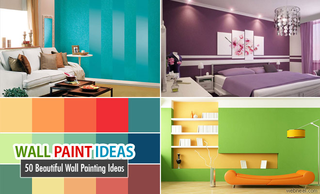 50 Beautiful Wall Painting Ideas and Designs for Living room Bedroom Kitchen - part 2