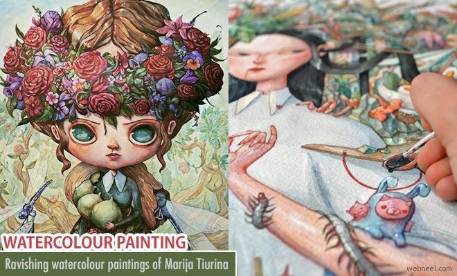 Ravishing Watercolour Paintings of Marija Tiurina