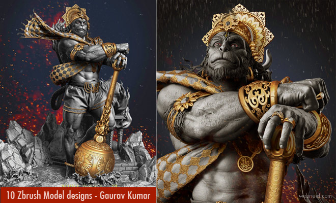 10 Stunning Zbrush Model designs by Indian 3D Artist Gaurav Kumar