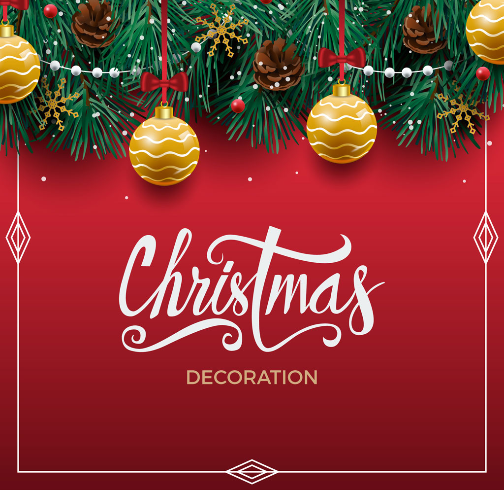 1 free christmas vector decoration