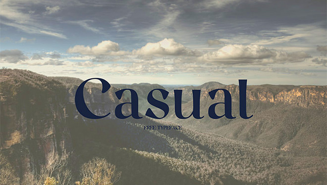 Free font   Casual